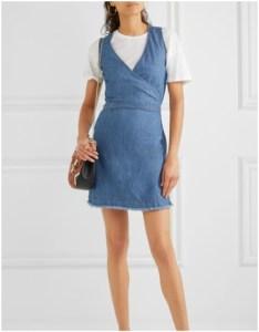 Net-a-Porter Frayed Cotton and Linen Blend Wrap Dress