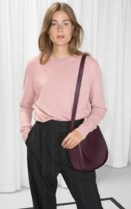 &OtherStories Cashmere Knit Sweater - $145 pink 100% cashmere jumper shop