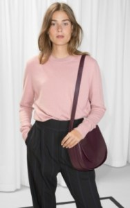 &OtherStories Cashmere Knit Sweater - $145 pink 100% cashmere jumper shop
