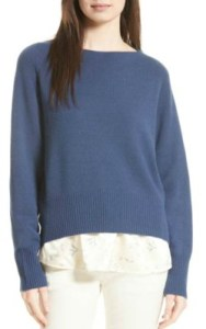 Nordstrom Vince Boat Neck Cashmere Sweater - $355 in ink blue