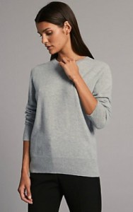 Marks and Spencer Autograph Pure Cashmere Round Neck Jumper - £75 in silver grey shop