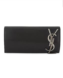 YSL Smoking Leather Monogram Clutch Bag
