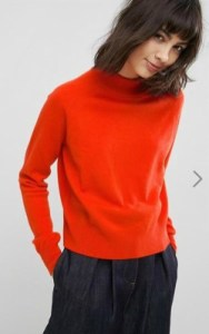 ASOS WHITE 100% Cashmere Turtleneck Sweater - $143 in red
