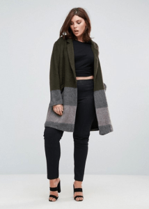 ASOS Elvi Striped Wool Blend Coat