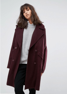 ASOS Weekday Cocoon Coat