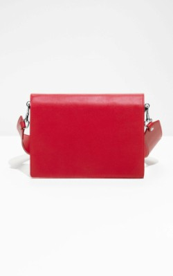 &OtherStories Wide Strap Crossover - red small bag
