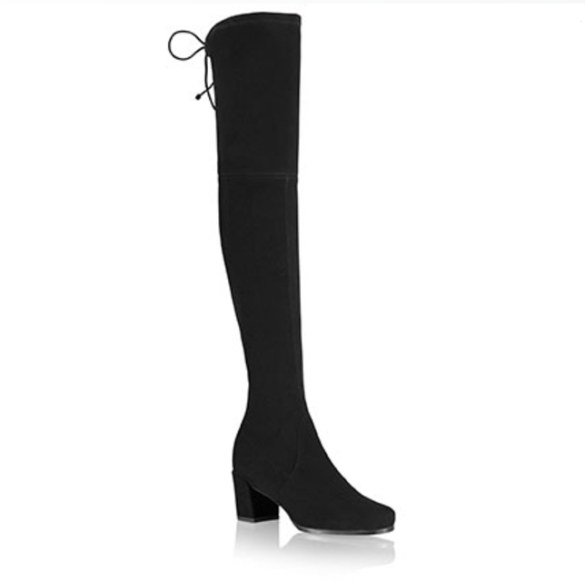 HINTERLAND - Mid Heel Over the Knee Boots - Black
