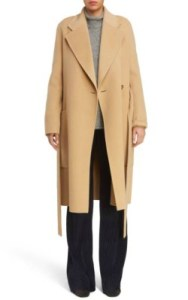 Nordstrom ACNE Studios Carice Double Breasted Coat - $1,450 in camel