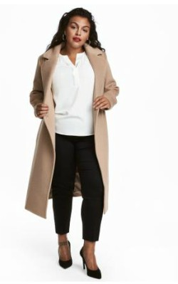 H&M+ Wool-blend Coat - $149 in camel