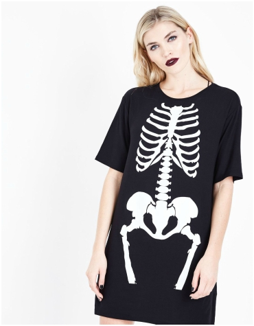 New Look - Skeleton Print Dress