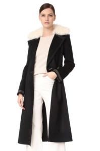 Shopbop Helmut Lang Shearling Collar Coat