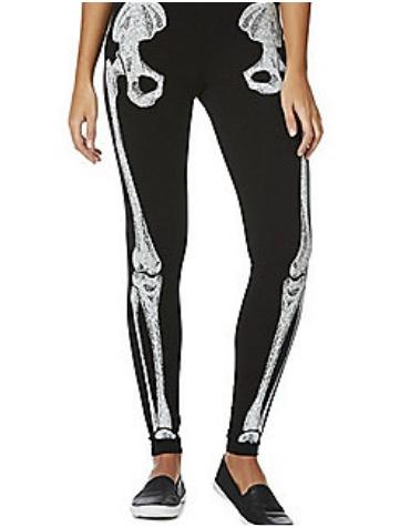 Tesco - Halloween skeleton leggings