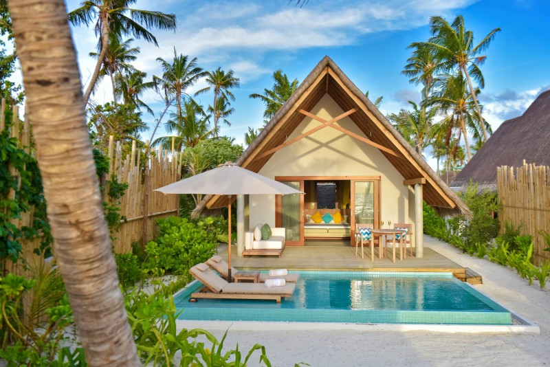 Fushi faru beach pool villa
