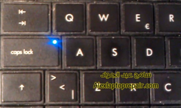 hp caps lick keyboard flashing