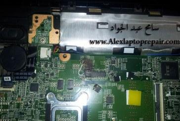 حل مشكلة لابتوب لا يعرض بيانات نتيجة فقد HP 655 NO DISPLAY CPU VCC MISSING B+