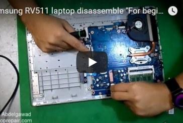 Samsung RV511 laptop disassemble For beginners – للمبتدأين فك لاب توب سامسونج