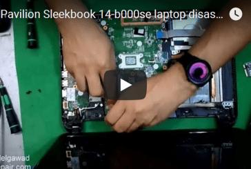 "HP Pavilion Sleekbook 14-b000se laptop disassemble ""For beginners"" – للمبتدأين فك لاب توب اتش بي"