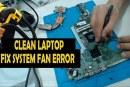 تنظيف اللاب توب , وضع مادة تبريد جديدة HP 15 Laptop to clean the fan