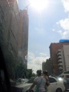 I mostly saw Caracas from the back of a car