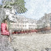 Girl in Heidelberg (detail)