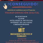 """Conseguido… """"Transformación Digital"""" en el MIT"""
