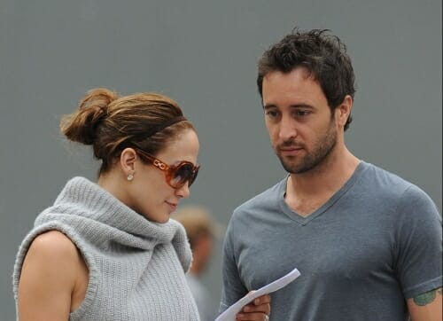 The set of the Backup Plan with Jennifer Lopez and Alex O'Loughlin
