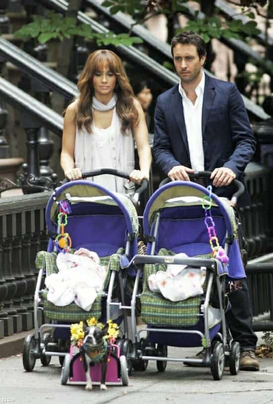 Alex O'Loughlin Pushing Baby Stroller in New York