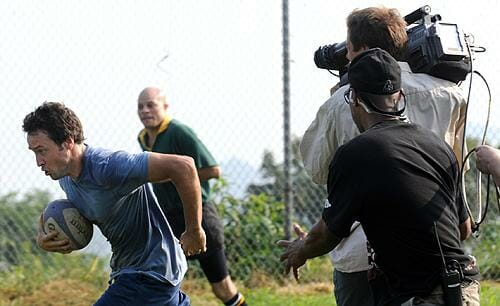Alex O'Loughlin playing Rugby for CBS Three Rivers Episode 1
