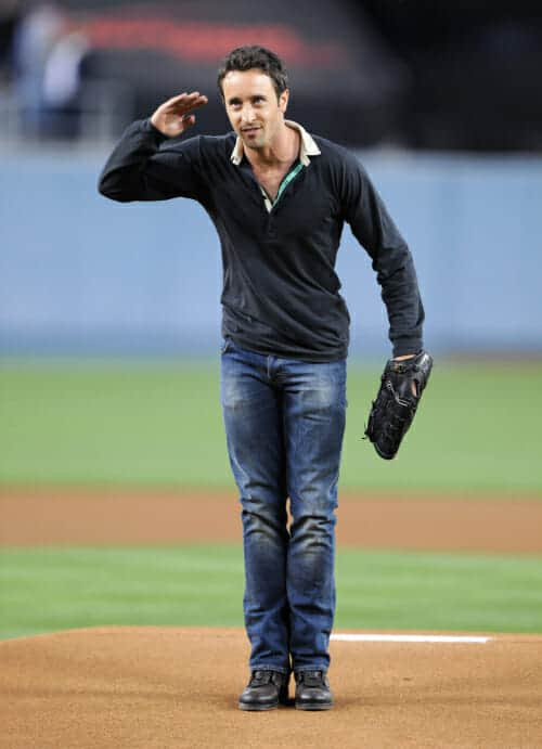 Alex O'Loughlin at Dodgers Game