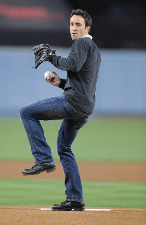Alex O'Loughlin at Dodgers Game