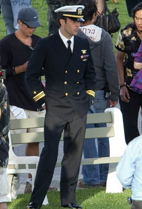 Alex O'Loughlin in Navy Uniform