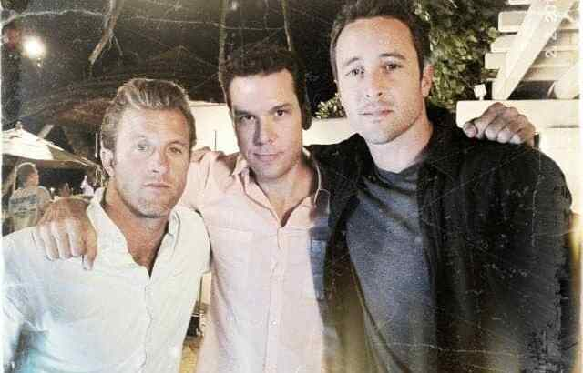 Alex and Dane Cook on the Set