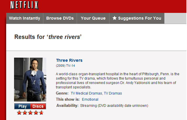 Catch Three Rivers on Netflix!!