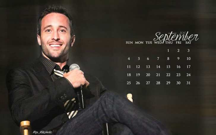 Alex O'loughlin September calendar