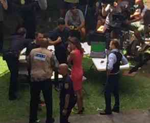 Hawaii Five O BTS state capitol