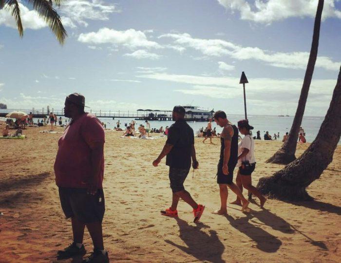 Alex O'Loughlin BTS beach shoot