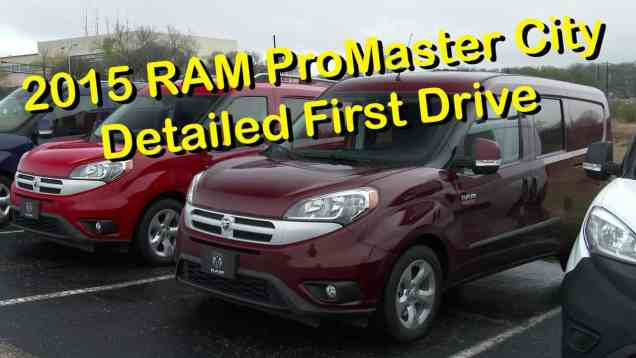 2015 RAM ProMaster City Cargo and Wagon Detailed Review