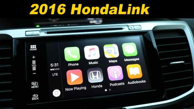 2016 HondaLink Infotainment Review with Android Auto and Apple Car Play!