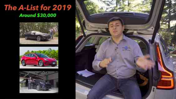 A List – The Best Cars and SUVs of 2018 & 2019