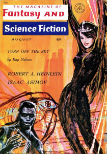 Cover of the Magazine of Fantasy and Science Fiction, which published both genres, though not necessarily simultaneously.