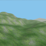Terrain generated procedurally with my engine.