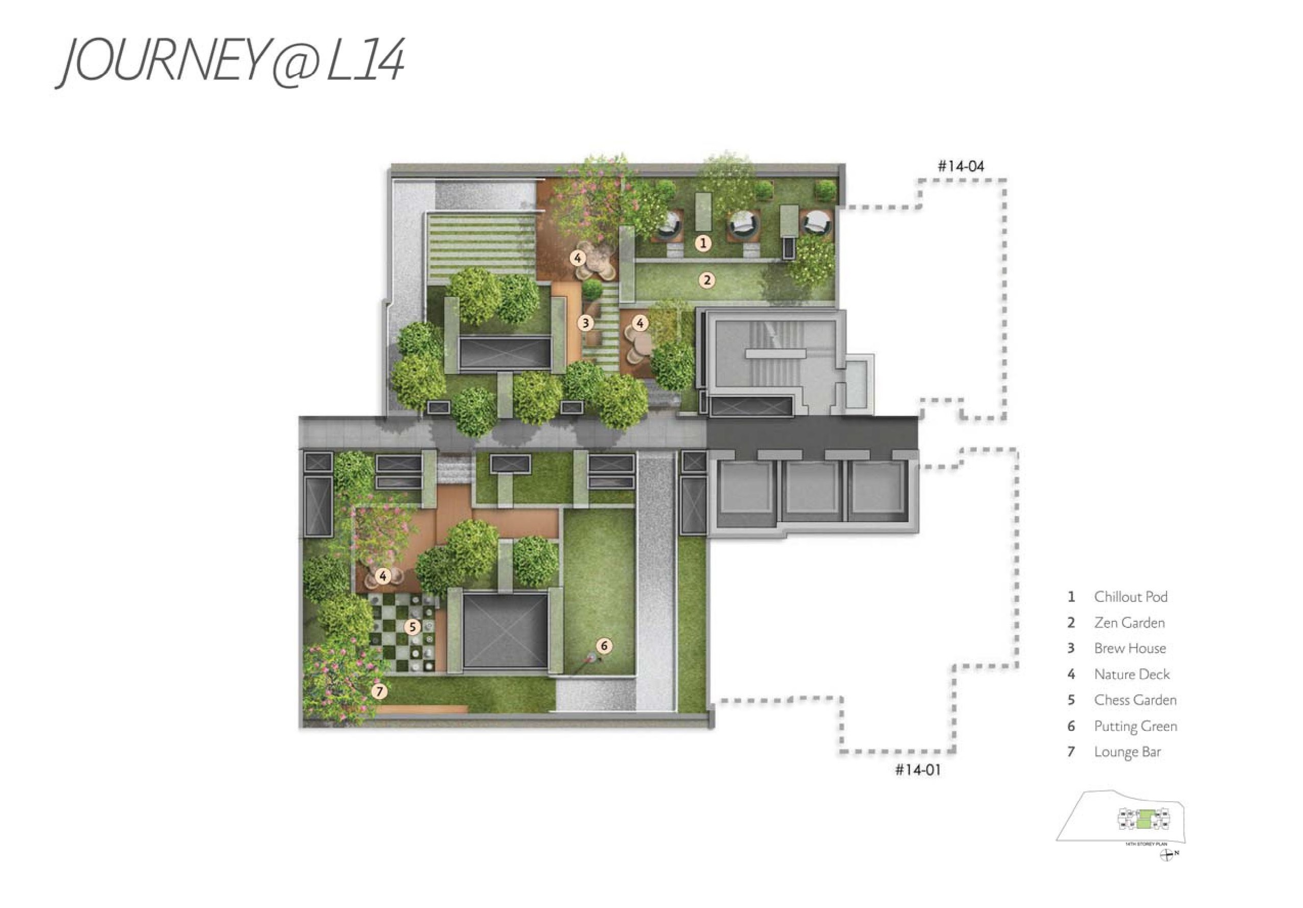 Alex Residences Level 14 Site Map