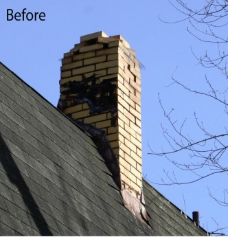upshaw chimney 2 before
