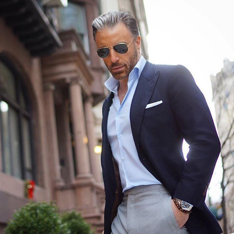 Abbinamento giacca blu Alex Righetto