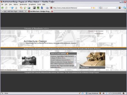 UMass Arch+Des program site