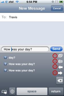 hClipboard Example: Sending a Text Message