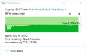Fast NTFS transfer