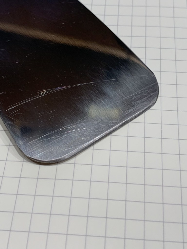 photo of one-sided sharp blade