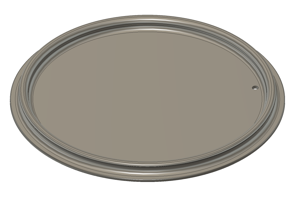 Overview in CAD of watering can lid