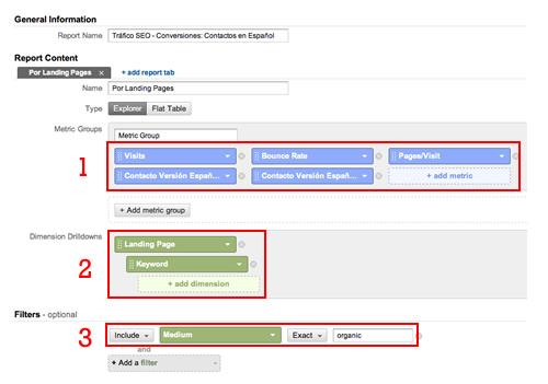 Google Analytics - Informe SEO Personalizado